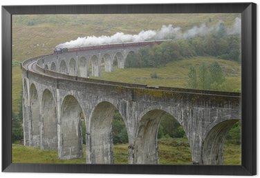 Framed Canvas Train on Glenfinnan viaduct. Scotland.