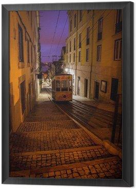 tram in an alley night
