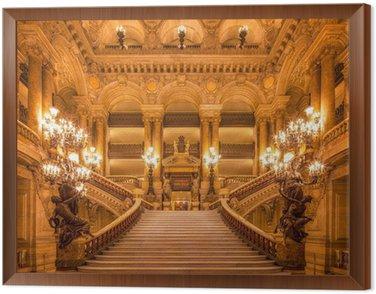 Treppenhaus in der Oper Framed Canvas