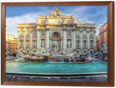 Framed Canvas Trevi Fountain, rome, Italy.