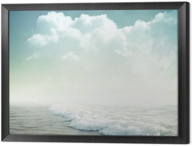 Framed Canvas tropical background