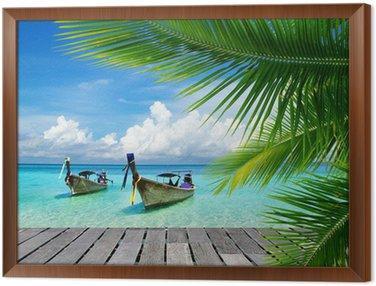 Framed Canvas tropical sea