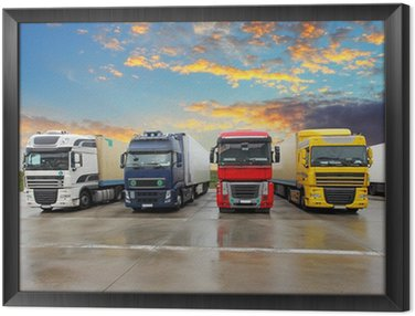 Framed Canvas Truck - Freight transportation