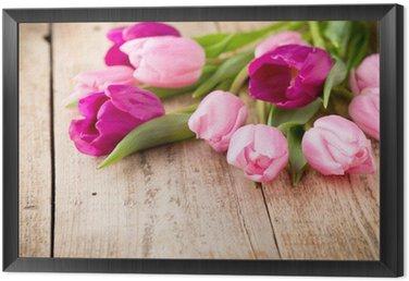 Tulip. Framed Canvas