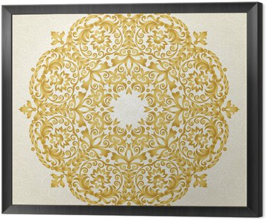 Vector ornament in Victorian style.