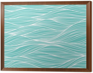 Framed Canvas Vector seamless abstract pattern, waves