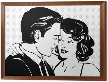Framed Canvas Vintage lovers