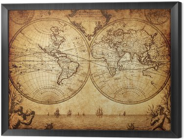 Pixers world map of the canvas map wall art old world map canvas retro world maps canvas prints pixers on map wall art old world map gumiabroncs Gallery