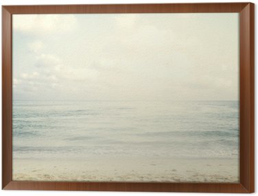Framed Canvas Vintage tropical beach in summer