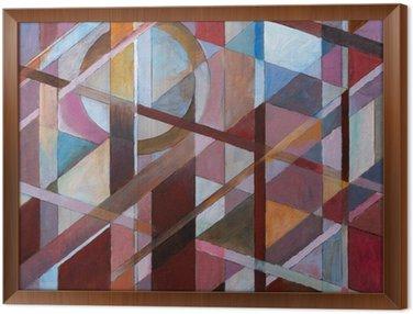 Framed Canvas warm diagonals
