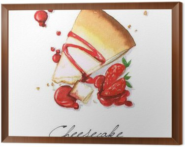 Watercolor Food Painting - Cheesecake