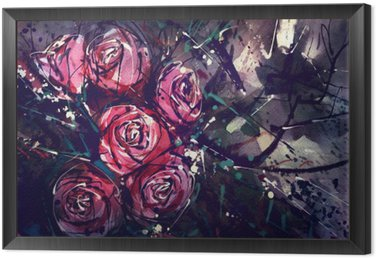 Watercolor painting style roses Abstract Art.