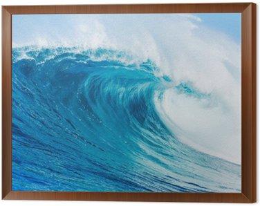 Framed Canvas Wave