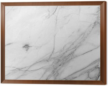 Framed Canvas white background marble wall texture