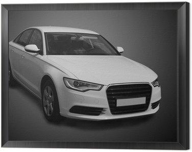 white luxury car