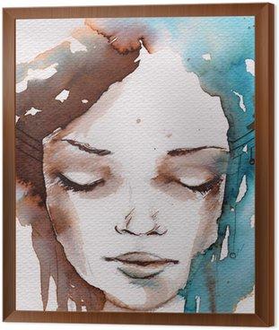 Framed Canvas Winter, cold portrait