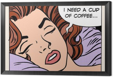woman dreams morning cup coffee