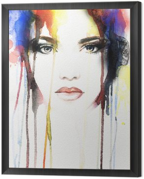 woman portrait .abstract watercolor