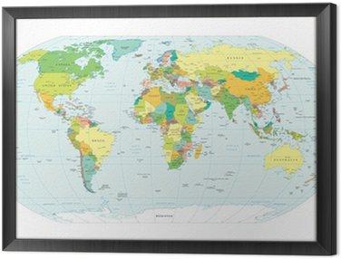 world map political boundaries