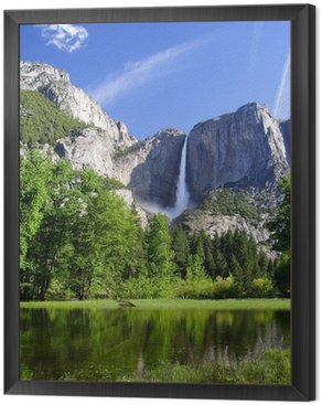 Framed Canvas Yosemite falls