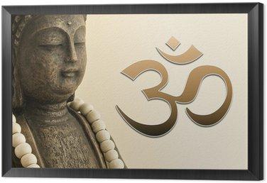 ZEN Buddha mit Mala-Kette und OM Zeichen