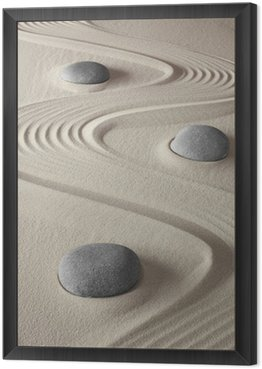 Framed Canvas zen garden
