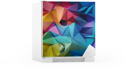 Abstract geometric background Fridge Sticker