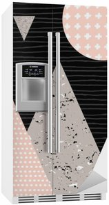 Fridge Sticker Abstract Geometric Landscape