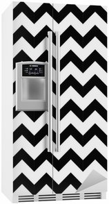Fridge Sticker Abstract geometric zigzag seamless pattern. vector