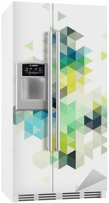 Fridge Sticker abstract low poly background, vector