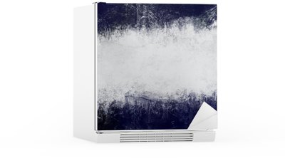 Abstract painted background in dark blue and white with empty space for text Fridge Sticker