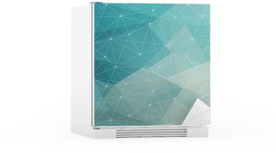 abstract polygonal background, vector Fridge Sticker