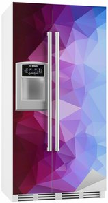 Fridge Sticker Abstract polygonal background.