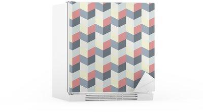 abstract retro geometric pattern Fridge Sticker