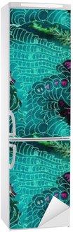 Batik pattern Fridge Sticker