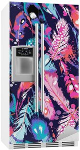 Fridge Sticker beautiful feather vector seamless background