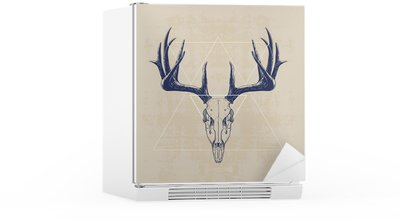deer skull Fridge Sticker