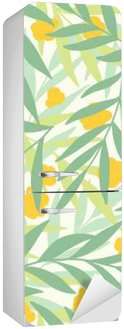 Exotic leaves, rainforest. Fridge Sticker