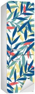 Exotic leaves, rainforest. Fridge Sticker