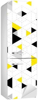 Geometric Pattern Background Fridge Sticker