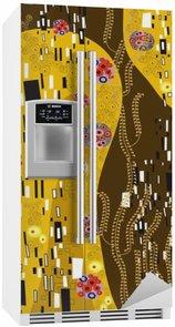 Fridge Sticker klimt inspired abstract art