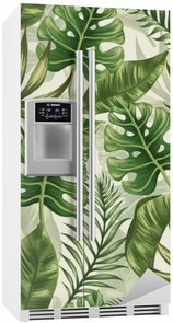 Fridge Sticker Leaves pattern