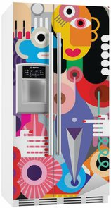 Fridge Sticker Man and Woman