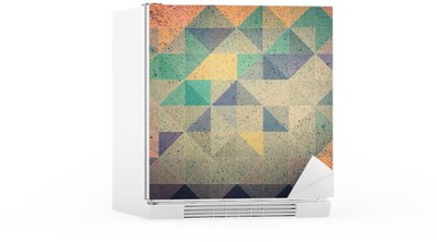 Pink and purple triangle abstract background illustration Fridge Sticker