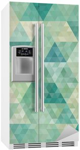 Fridge Sticker seamless background with abstract geometric ornament