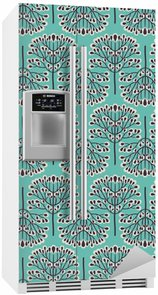 Fridge Sticker Seamless forest pattern