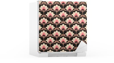seamless vintage floral pattern Fridge Sticker