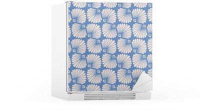 seamless vintage pattern with stylized seashells Fridge Sticker