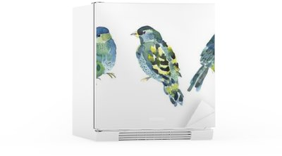Watercolor bird collection for your design. Fridge Sticker