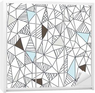 Abstrakt sømløs doodle mønster Garderobe Klistermærke